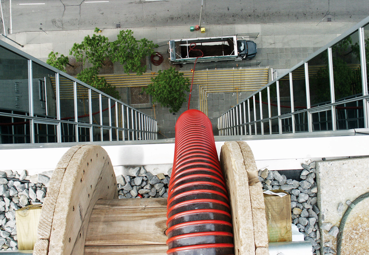 Going Vertical with an Express Blower Truck for Green Roof